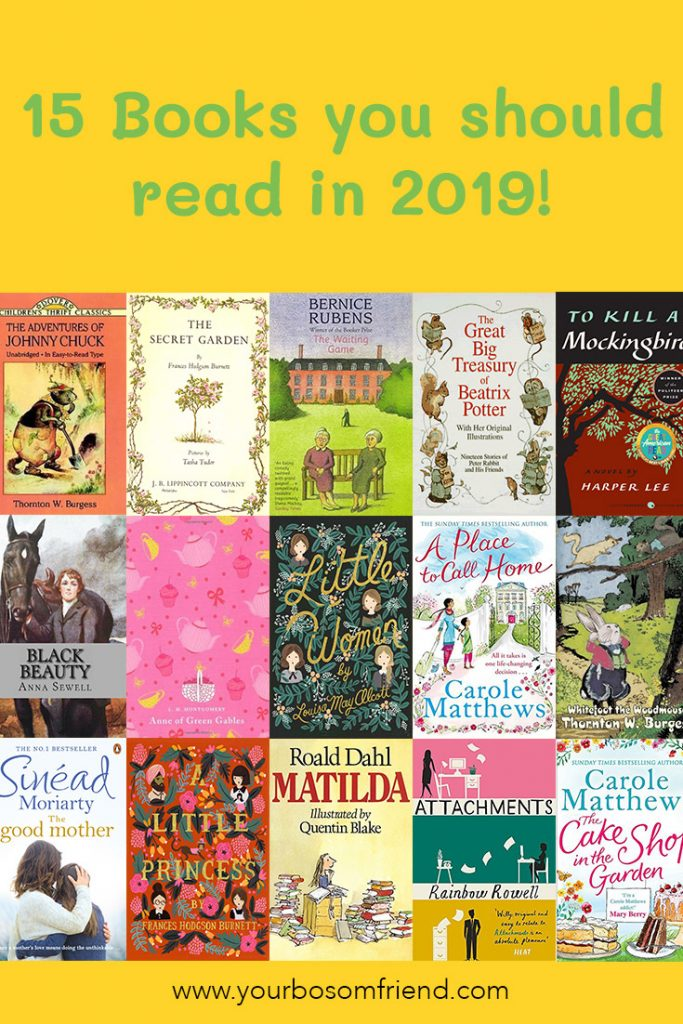 15 books to read now and where to find the books including audio books and paper backs! List includes children's classic , romance and chick lit