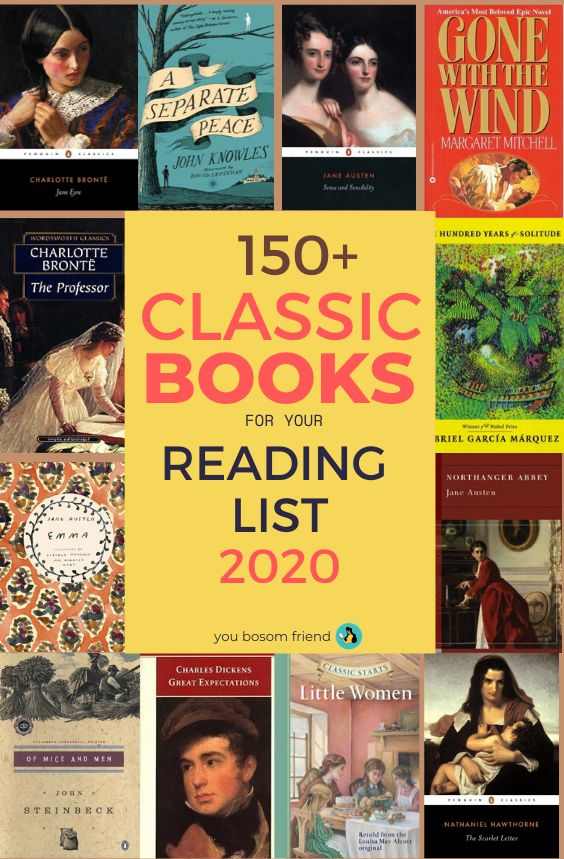 150 Classic Books Every Book Lover Should Read In Their Life Time